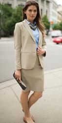 Intaglio Women's Suit Coat in Vintage Khaki