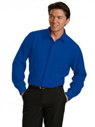 Cobalt Blue Wrinkle Free Hospitality Shirt