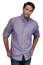 Men's Check Uniform Shirt by Vantage Apparel