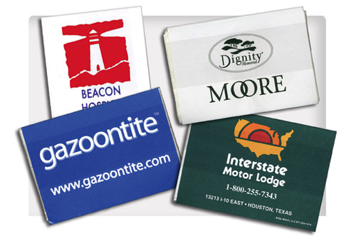 Advertise your business on these tissue packets!