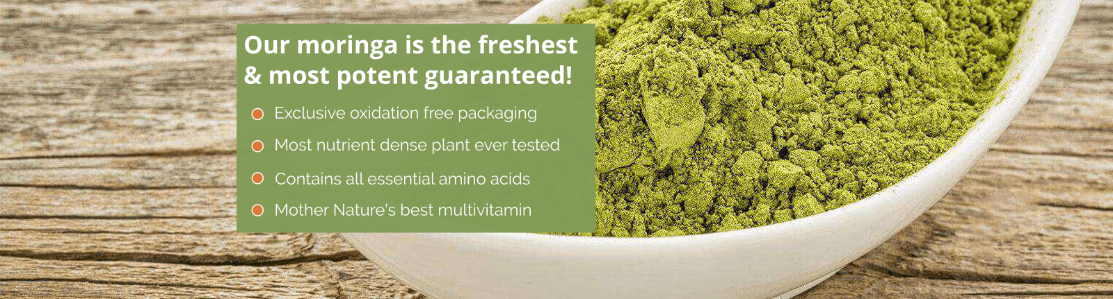 Green Virgin Moringa Products