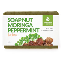 Soap Nut & Moringa Peppermint Bar Soap