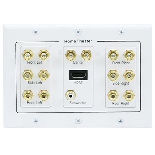 3-Gang 7.1 Surround Sound Wall Plate w/ HDMI®