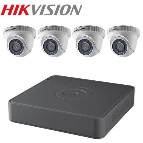 Hikvision TVI Security Camera Kit, 4 Channel DVR, 4 x 1080p Turret Cameras