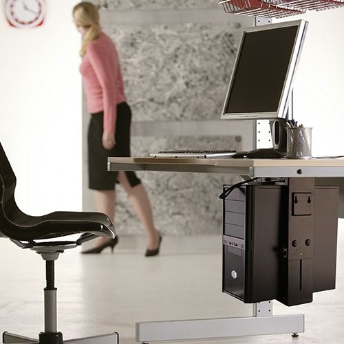 Adjustable Under-Desk CPU Mount