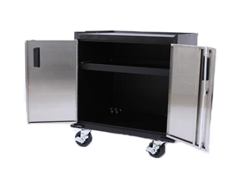 Mancave Mobile Double Storage Cabinet Two Door Storage