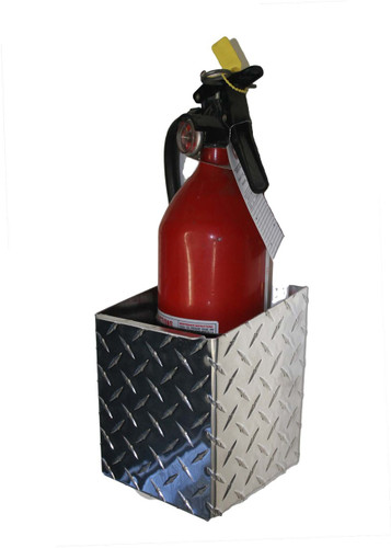 "Diamond Plate Fire Extinguisher, 4"""