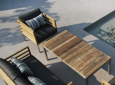 Modern Teak Bogard Outdoor Chair