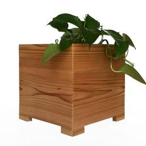 Mod Cedar Cube Planter
