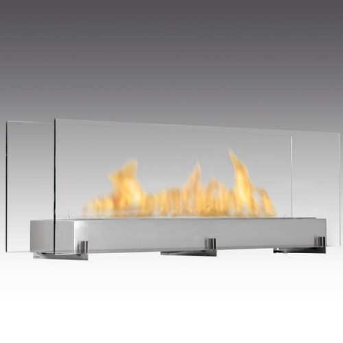 Vision III Linear Glass Fireplace SS
