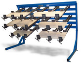 JLT 6 in Panel Clamp with 8, 3 1/2 in High Jaw 40 in Clamps