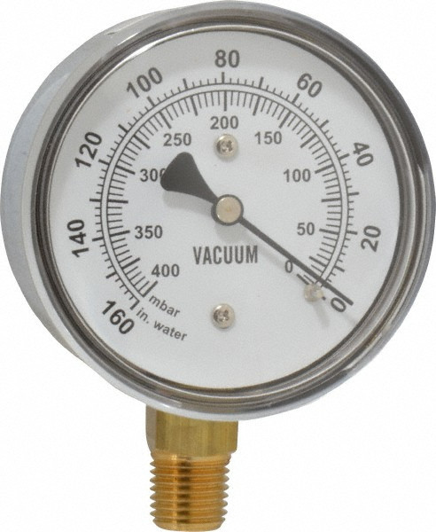 Gast AE134 Vacuum Gauge 1 4 NPT 160 PSI
