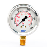 "Wika 9692113 Industrial Liquid-filled Gauge Model 213.53 2-1/2 Dial 5000 PSI/BAR 1/4""NPT Lower Mount Stainless Steel Case"