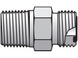 Parker 4-4 FLO-S Seal-Lok Male Connector 1/4 ORFS X 1/4 NPT Steel