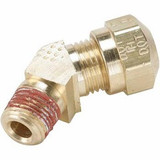 Parker VS279NTA-8-6 Air Brake Compression 45° Male Elbow 1/2 Tube OD X 3/8 NPTF Brass