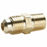 Parker 48F-4-4 Male Straight Connector 1/4 Tube OD X 1/4 NPTF Brass