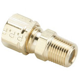 Parker 68CA-4-6 Compress-Align Male Connector 1/4 Tube OD X 3/8 NPT Brass