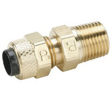 Parker 68P-4-2 Poly-Tite Compression Male Connector 1/4 Tube OD X 1/8 NPTF Brass