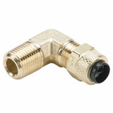 Parker 169P-4-4 Poly-Tite Compression Male 90° Elbow 1/4 Tube OD X 1/4 NPTF Brass