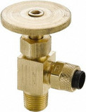 Parker NV312P-4-4 Angled Needle Valve 1/4 Male NPTF X Poly-Tite Brass