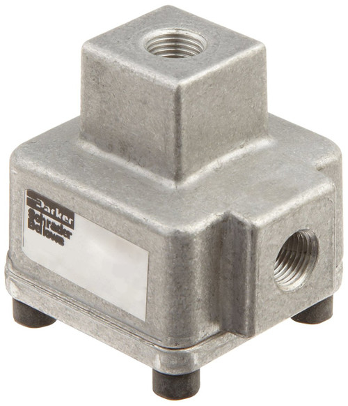 Parker 0R12NB Quick Exhaust Valve 1/8 NPT 70 SCFM 3-150 PSI Aluminum