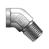 Parker 2-2 SVE-B-C3 Street Elbow 45° Pipe Fitting 1/8 NPT X 1/8 NPT Brass