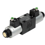 Parker D1VW004CNJDLJ5 Directional Control Valve Double Solenoid 3 Position Spring Offset 20 GPM NFPA D03 5000 PSI