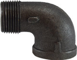 Midland Metals 65165 Black 90° Street Elbow 1 Inch NPT Iron 150#