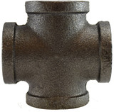 Midland Metals 65395 Black Cross 1 Inch NPT Iron 150#
