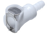 Colder PMC1704 Non-valved In-Line Coupling Body 1/4 Hose Barb 120 PSI Acetal White
