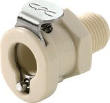 Colder PMCD100212 Valved Coupling Body 1/8 NPT 120 PSI Polypropylene Almond