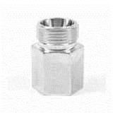 Parker GAI06LRCFX Ermeto DIN Female Connector 6mm Tube OD 24° Cone End X G 1/8 BSPP Steel