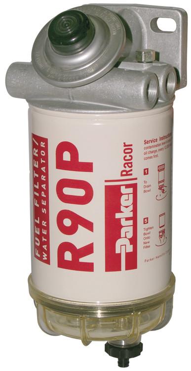 Racor 490R30 Diesel Fuel Filter/Water Separator 30 Micron 90 GPH 3/8-18 NPTF 30 PSI