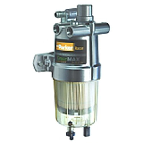 Racor 4400R10 GreenMAX™ Fuel Filter/Water Separator With Hand Primer Pump 10 Micron 150 GPH 7/8-14 UNF -10 SAE