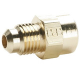 Parker 46F-3-2 Female Straight Connector 3/16 Tube OD X 1/8 NPTF Brass