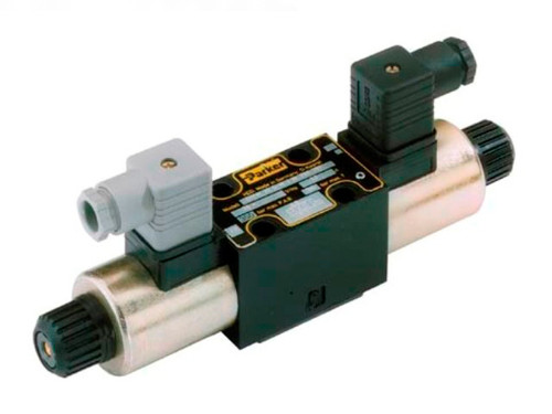 Parker D1VW004CNYW Directional Control Valve Double Solenoid 3 Position Spring Centered 20 GPM NFPA D03 5000 PSI