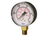 Wika 8990586 Commercial General Purpose Dry Pressure Gauge Model 111.10 2-1/2 Dial 100 PSI/KPA 1/4 NPT Lower Mount Black Plastic Case