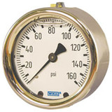 Wika 9318275 Industrial Liquid-filled Pressure Gauge Model 213.40 2-1/2 Dial 3000 PSI 1/4 NPT Center Back Mount Forged Brass Case