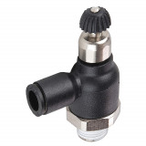 Legris 7065 56 14 Compact Flow Regulator Exhaust 1/4 Tube OD X 1/4 NPT Male Nylon