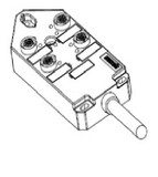 Molex BTY4050-FBP-10 1201140042 Micro-Change M12 Cable Assembly Top Mount 4 Ports 4M12 Circular 5.0M Length