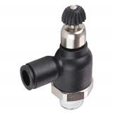 Legris 7065 56 11 Compact Flow Regulator Exhaust 1/4 Tube OD X 1/8 NPT Male Nylon