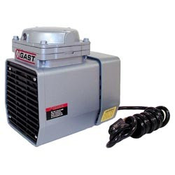 Gast DOA-V722-AA Diaphragm Air Compressor / Vacuum Pump .125 HP 1.55 CFM-50HZ 1.90 CFM-60HZ 25.5 IN-HG