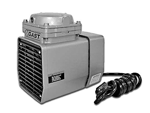 Gast DOA-P703-FB Diaphragm Air Compressor / Vacuum Pump .33 HP 1.55 CFM-50HZ 1.90 CFM-60HZ 25.5 IN-HG
