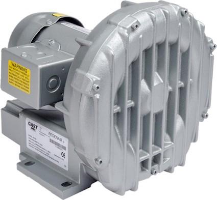 Gast R2103 Regenair® Regenerative Blower 1/3 HP 42 CFM 39 IN-H2O (press) 35 IN-H2O (vac)