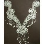 Venice Lace Yoke Applique - Large Ivory