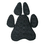 Iron On Patch Applique - Paw Print Large