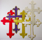 "Iron On Patch Applique - Latin Cross  12"" x 8 7/8"" (305mm x 225.4mm)"