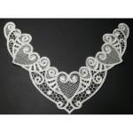 Venice Lace Yoke Applique - Ivory Hearts