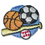 Iron On Patch Applique - Sports Bat n Balls
