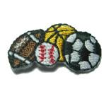 Iron On Patch Applique - Sports Balls Quartet